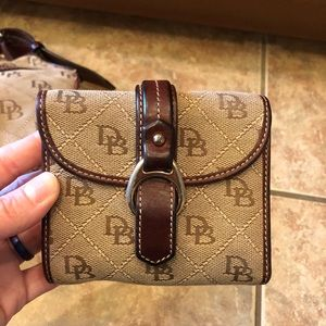 Tan/Brown Dooney and Bourke Wallet